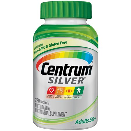 Centrum Silver Adult 50+ (220 Count) Multivitamin / Multimineral Supplement Tablets, Vitamin