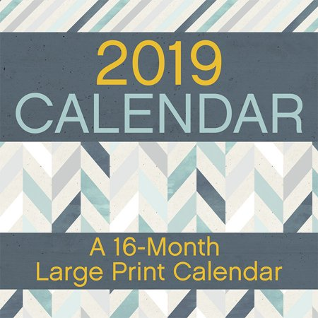 2019 Large Print Wall Calendar