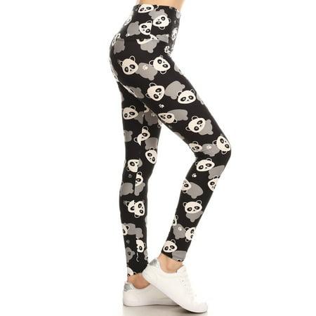 Yoga Band Panda Print Leggings (One Size ( 0 to 12 )), Buttery Soft Leggings, Bituin Leggings, High waisted, Yoga Band