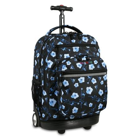J World Sundance Laptop Rolling Backpack, Night Bloom