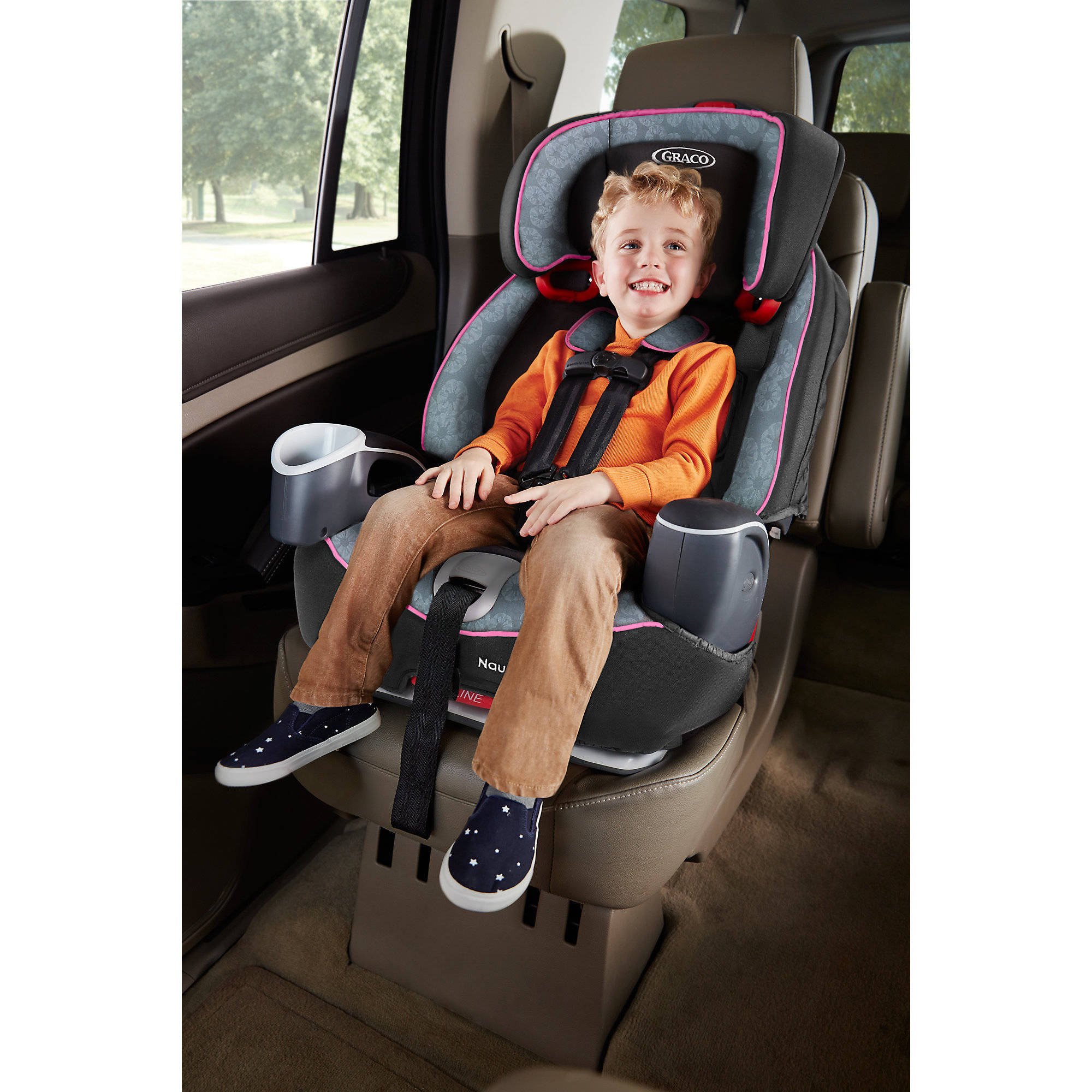 5 Point Harness Booster >> Graco Nautilus 65 3 In 1 Harness Booster Car Seat Bravo Walmart Com