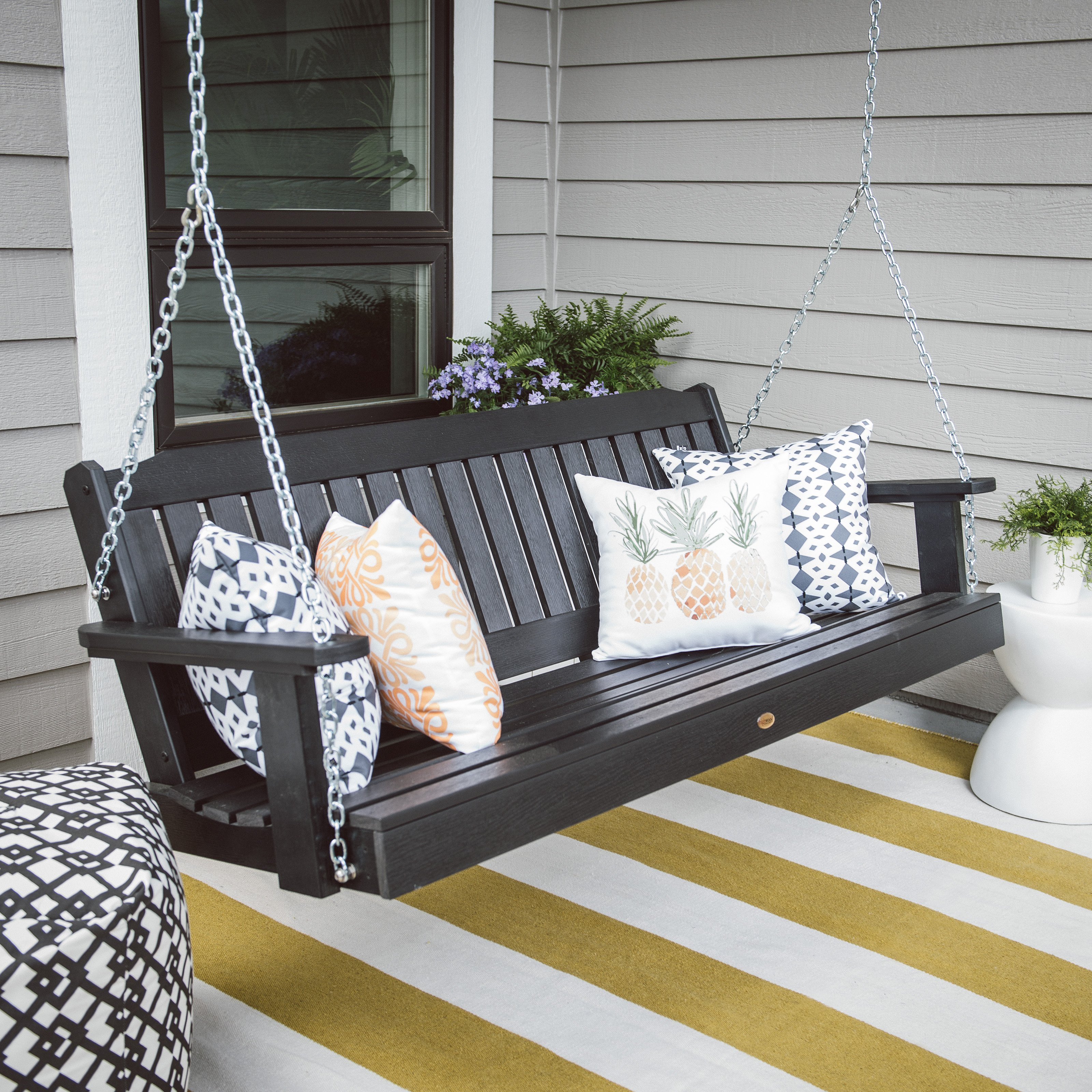 highwood® Lehigh Recycled Plastic Porch Swing
