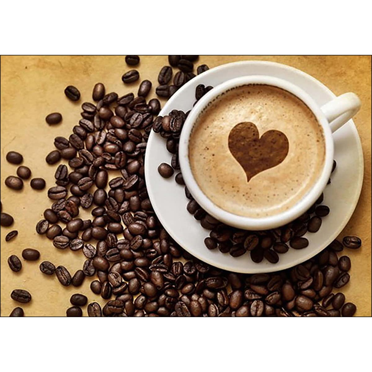 Rto Collection D'Art Diamond Embroidery/Printed/Gem Kit 27X19cm-Coffee For Her