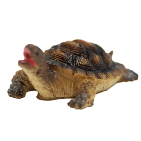 Young Turtle Figure With Tan Black Fade Colored Shell