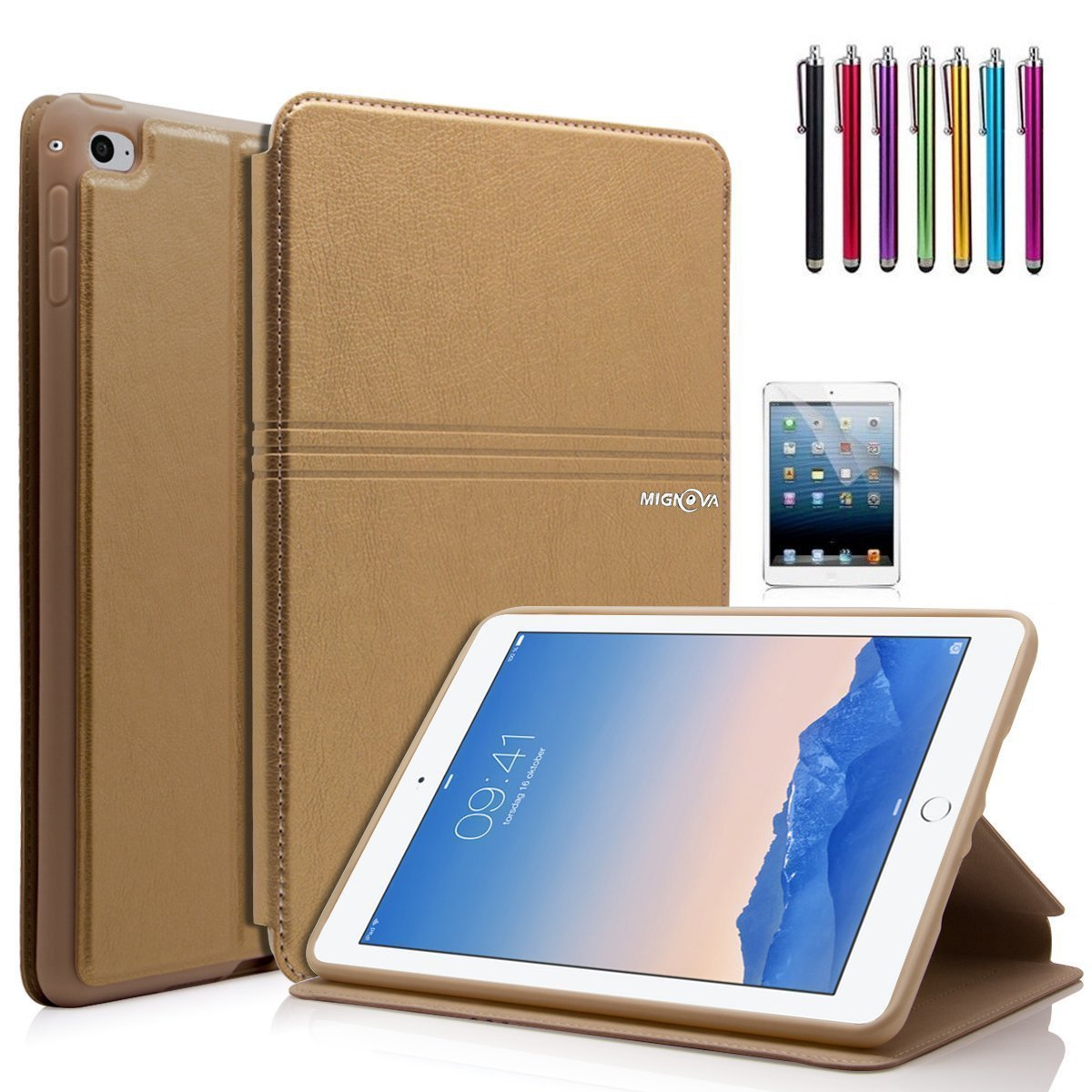 Mignova iPad Mini 4 Case - Ultra Slim Lightweight Smart Stand Cover Case With Auto Wake / Sleep for Apple iPad Mini 4 (2015 edition) 7.9 inch Tablet (2nd Gold)