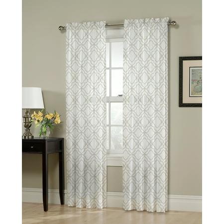 - Better Homes & Gardens Moroccan Quatrefoil Single Curtain Panel