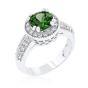 Jgoodin R08226R-C40-05 Emerald Halo Engagement Ring - Size 05