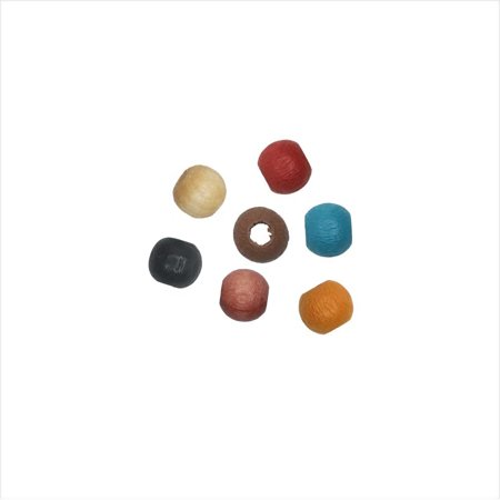 - EuroWood Natural Wood Beads, Round 4mm Diameter, 250 Pieces, Multi-Colored
