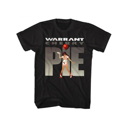 Warrant American Glam Metal Band Cherry Pie Black Adult T-Shirt Tee