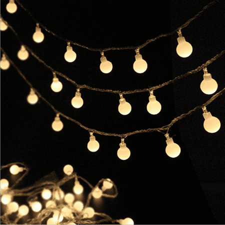 LED String Lights, Ball Indoor/Outdoor Decorative Light, Warm Light - for Patio Garden Party Xmas Tree Wedding Decoration(Battery Operated)40LED,  I0966