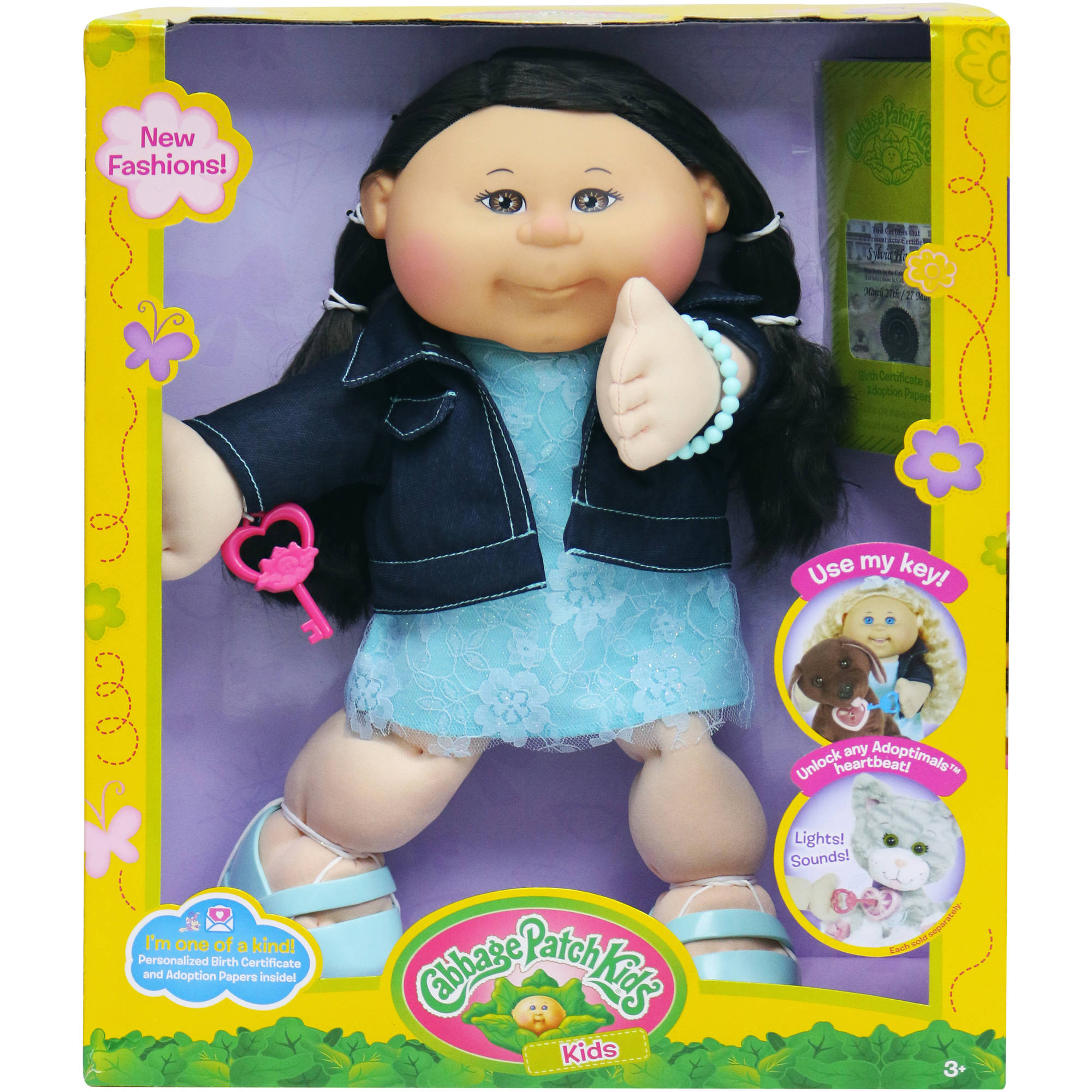 "Cabbage Patch Kids 14"" Doll, Trendy Dark Hair Brown Eye Girl by Wicked Cool Toys"