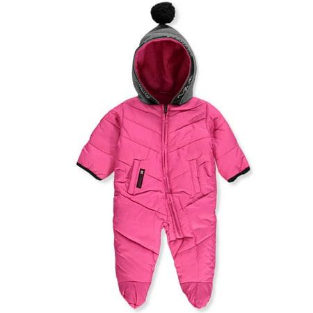Canada Weather Gear - Baby Girls' 1-Piece Snowsuit ...