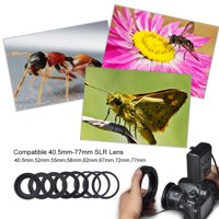 Zaqw Portable LED Ring Flash Battery Operated Fill Light with Color Filters Adapter Photography, DSLR Flash, Camera Accessory