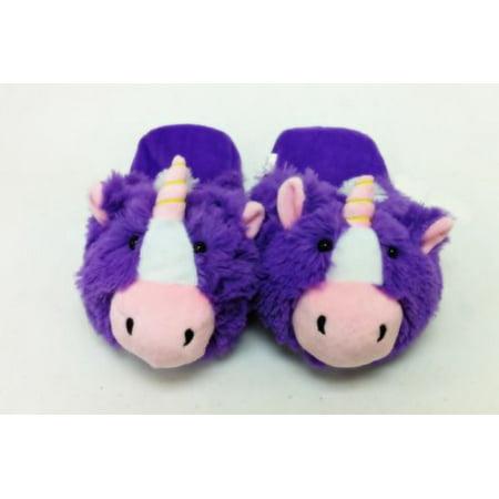 PLUSH & PLUSH® BRAND UNICORN SLIPPERS PET PILLOW my animal magical  horse ponny SMALL/MEDIUM NEW ()