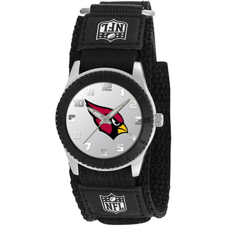 Game Time NFL Kids' Arizona Cardinals Rookie Series Watch, Black Velcro Strap