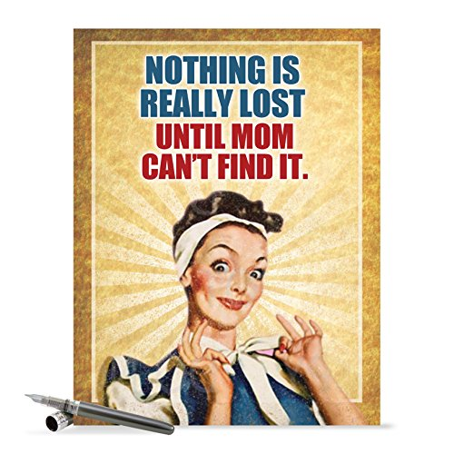 J0212 Jumbo Funny Mother's Day Card: Nothing Is Lost, Extra Large Greeting Card With Envelope - NobleWorks