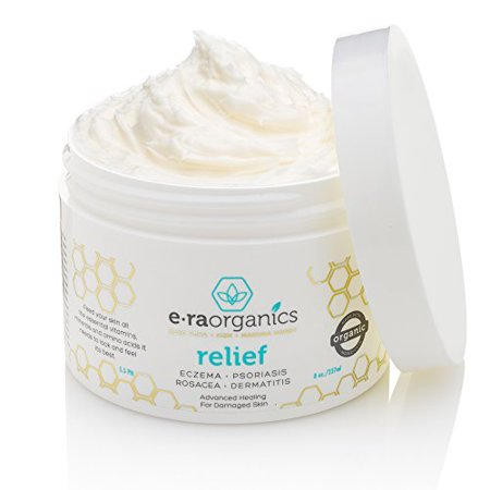 Psoriasis & Eczema Cream 8oz Advanced Healing Non-greasy Moisturizer with Organic Aloe Vera, Manuka Honey, Hemp Oil & More. Best Natural Moisturizer for Dermatitis, Rosacea, Shingles, Dry, Itchy