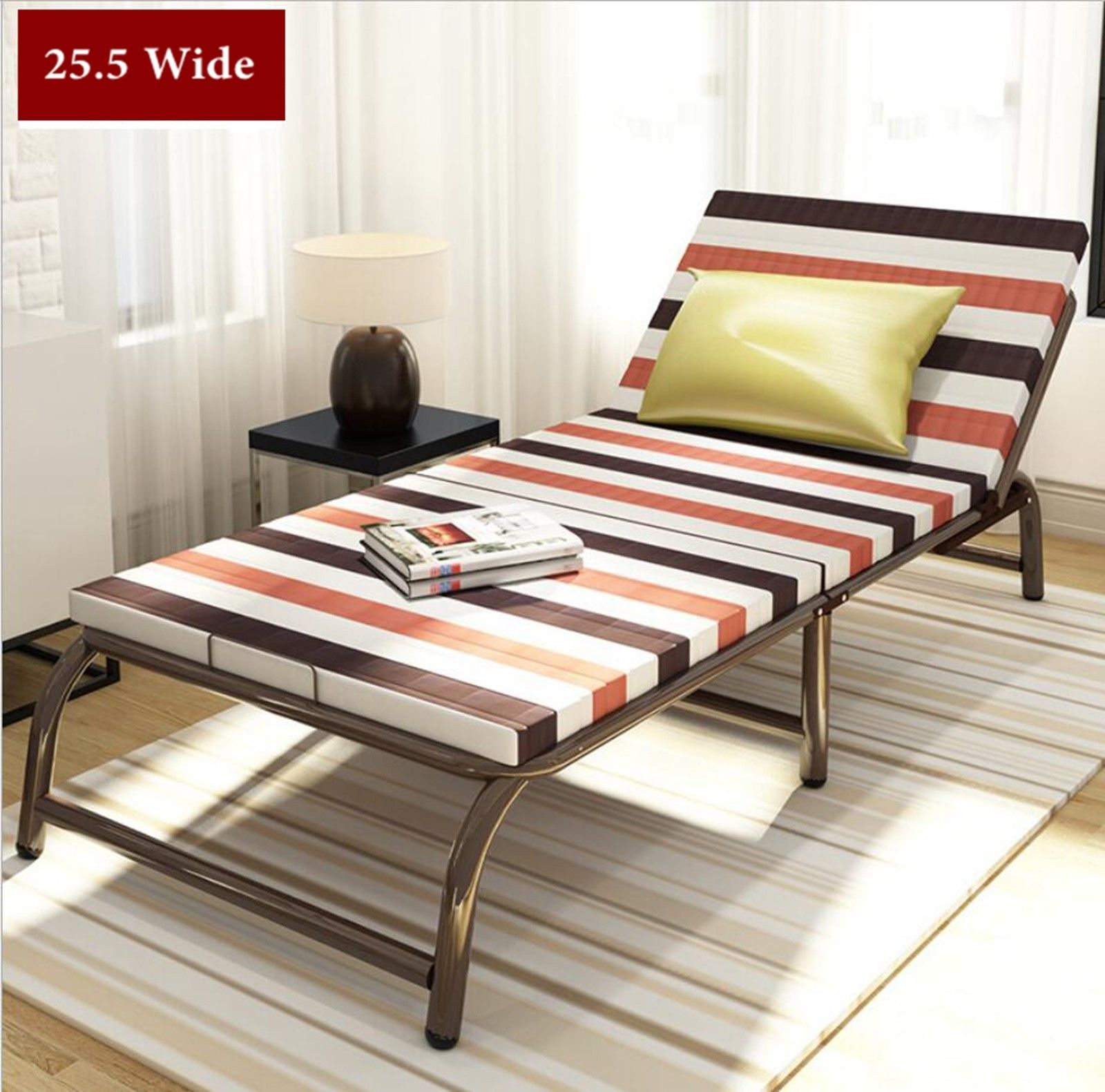 Portable Folding Bed With Frame Guest Bed Mattress Bedding ...