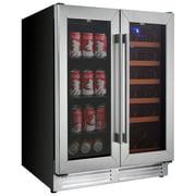 Koolatron 18-Bottle/56-Can Dual Temperature Wine Cellar (Kbbc-22) - Black/Stainless Steel