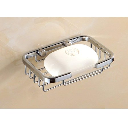WALFRONT Stainless Steel Wall Mounted Soap Dish Holder Tray Shower Storage Basket for Home Bathroom, Stainless Steel Soap Dish,Soap Basket
