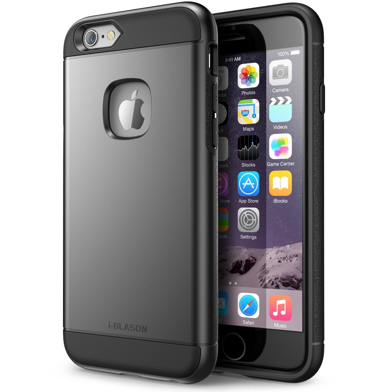 iPhone 6s Plus Case, i-Blason Unity [Dual Layer] Apple iPhone 6 Plus Case 5.5 Inch Cover [Ultra Slim] Armored Hybrid TPU Cover / Hard Outter Shell (Black)