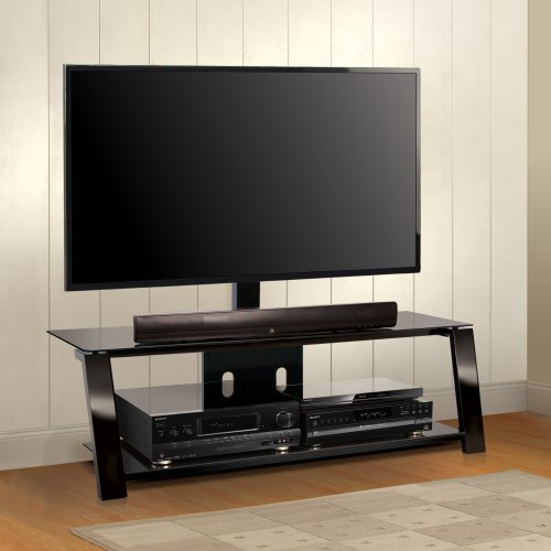 BellO Triple Play 52 in. Universal Flat Panel TV Stand - Black