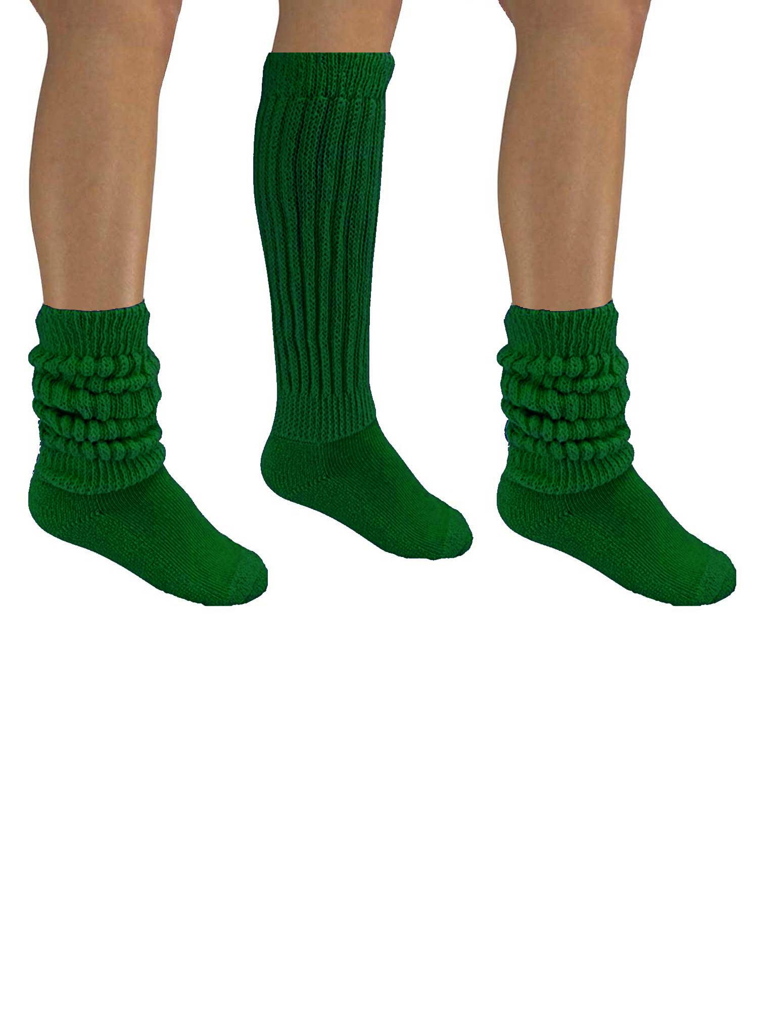 Women/'s Vintage Slouch Cotton Winter Crew Socks 3 Pairs Black White