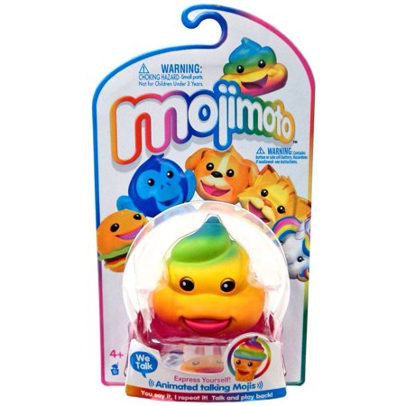 Mojimoto Animated Talking Mojis Rainbow Poop Hanger Figure - Rainbow Poop