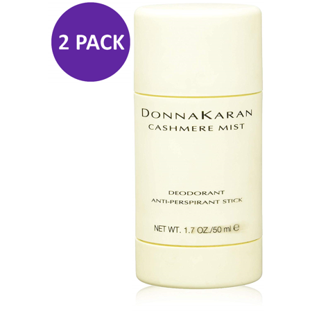 2 Pack - Cashmere Mist By Donna Karan Anti-Perspirant Deodorant Stick for Women, 1.7 Oz