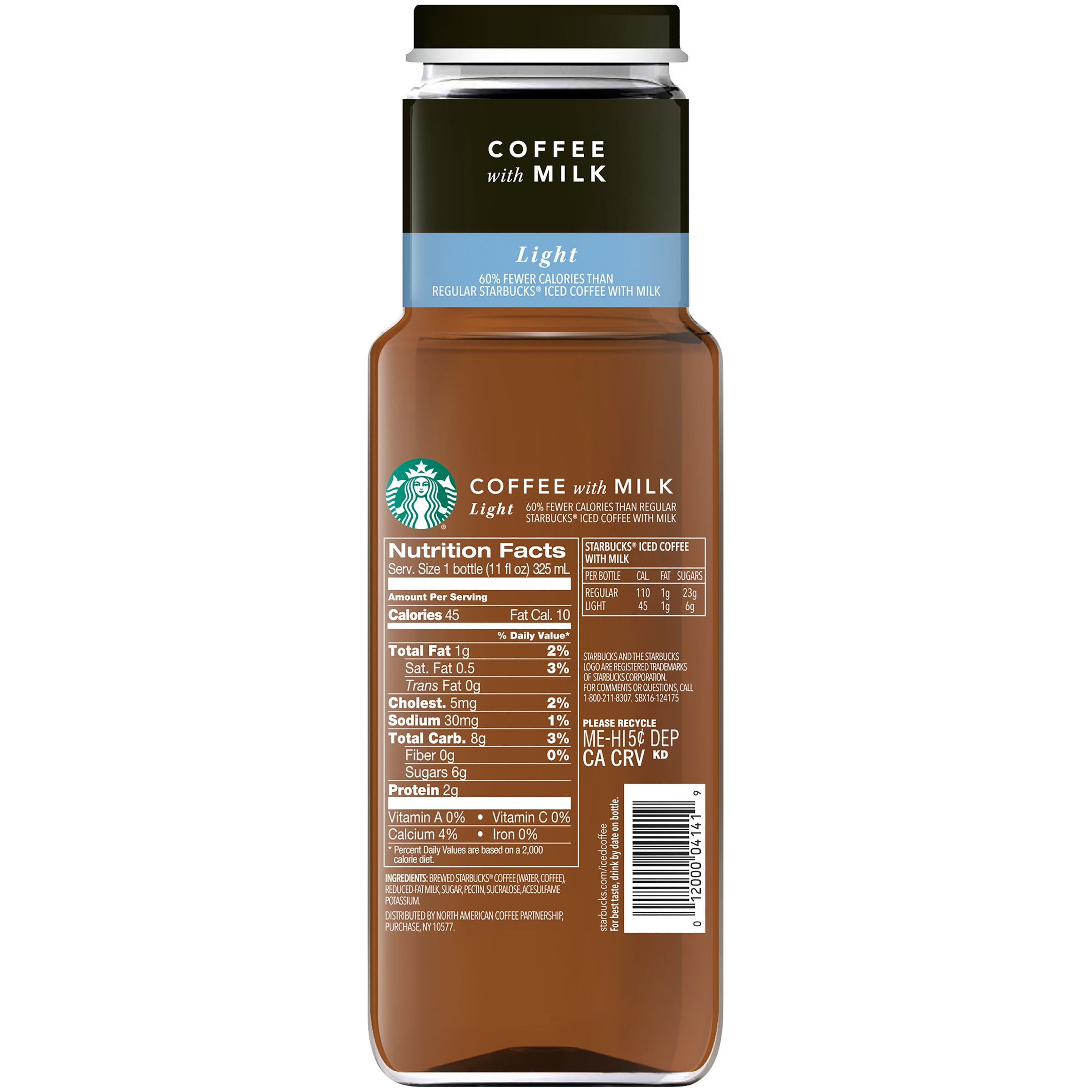 starbucks iced coffee calories