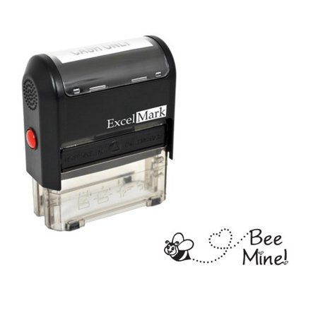 Bee Mine (Valentine's Day Rubber Stamp - Bee Mine Stamp - Black)