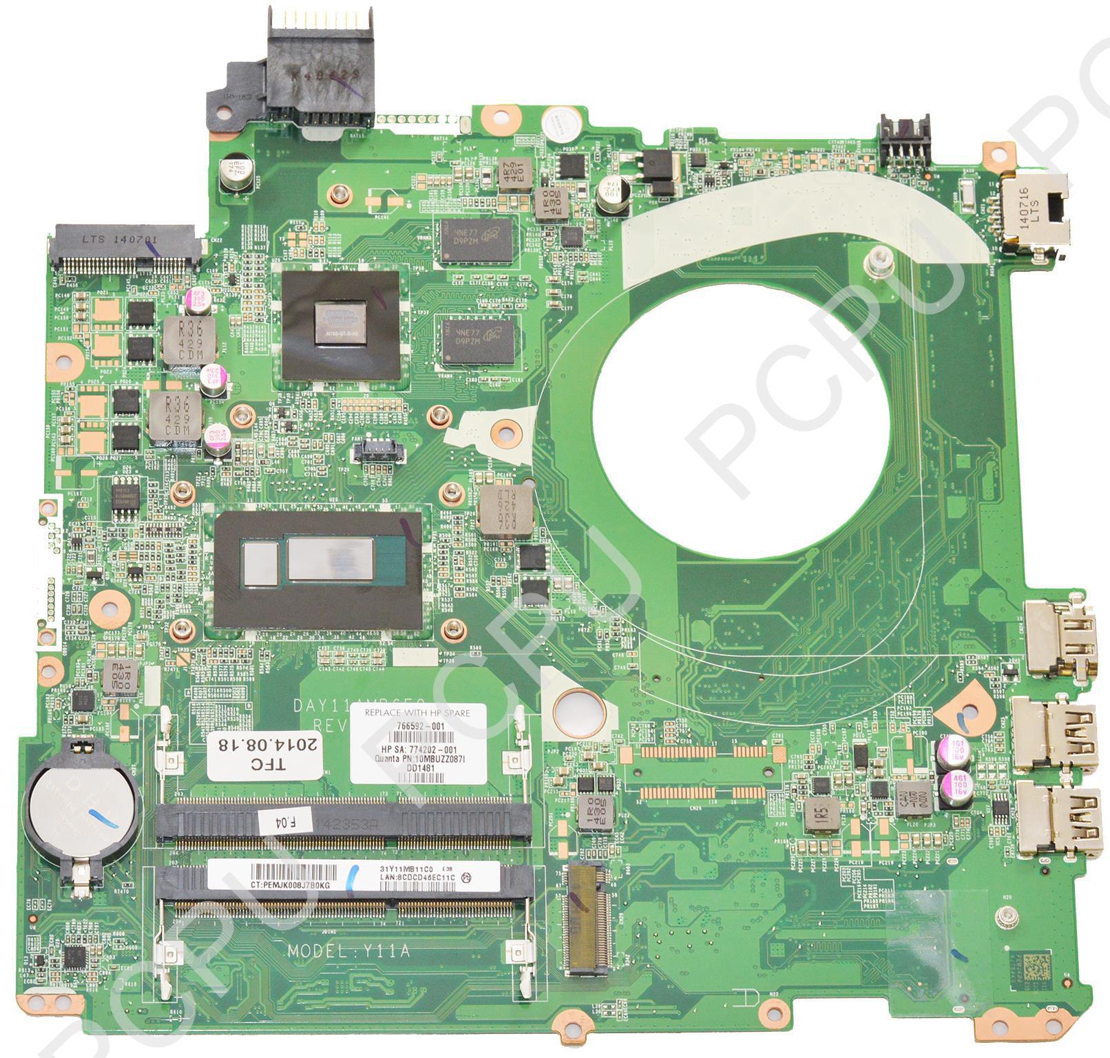 766592-001 HP Envy 15-K Laptop Motherboard 840M/2GB w/ In...
