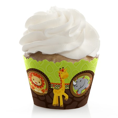 Funfari - Fun Safari Jungle - Baby Shower or Birthday Cupcake Wrappers - Set of 12 (Wild Safari Baby Shower Theme)