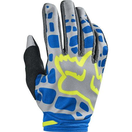 (2017 Womens Dirtpaw Gloves-Grey/Blue-XL, Padded, single layer Clarino® palm By Fox Racing)