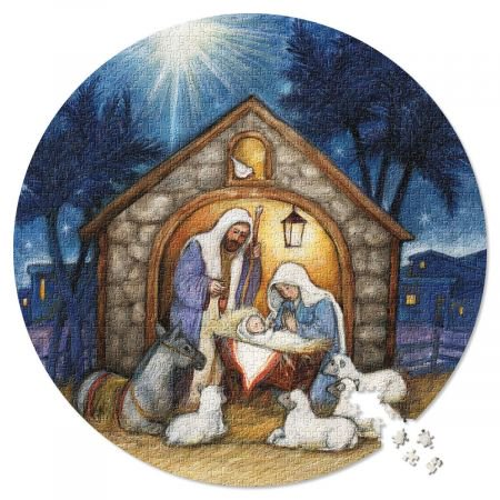 Oh Come Let Us Adore Him Puzzle- 1000 peice Christmas Puzzle, 26