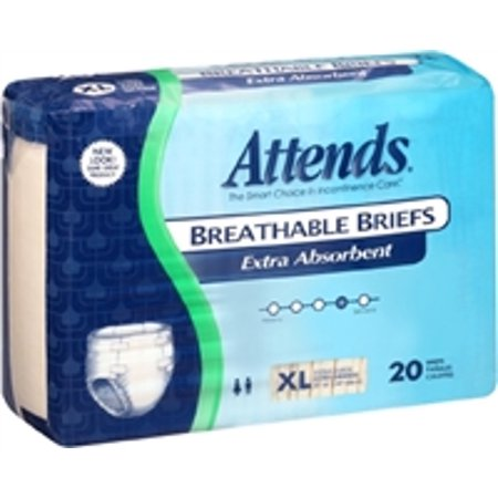 Attends Extra Absorbent Breathable Brief, EXTRA LARGE, 58