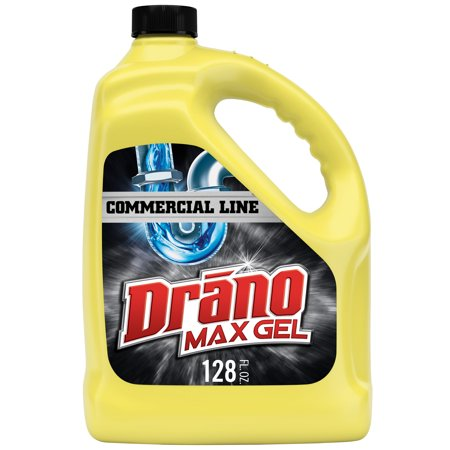 Drano Max Gel Clog Remover, Commercial Line, 128 fl