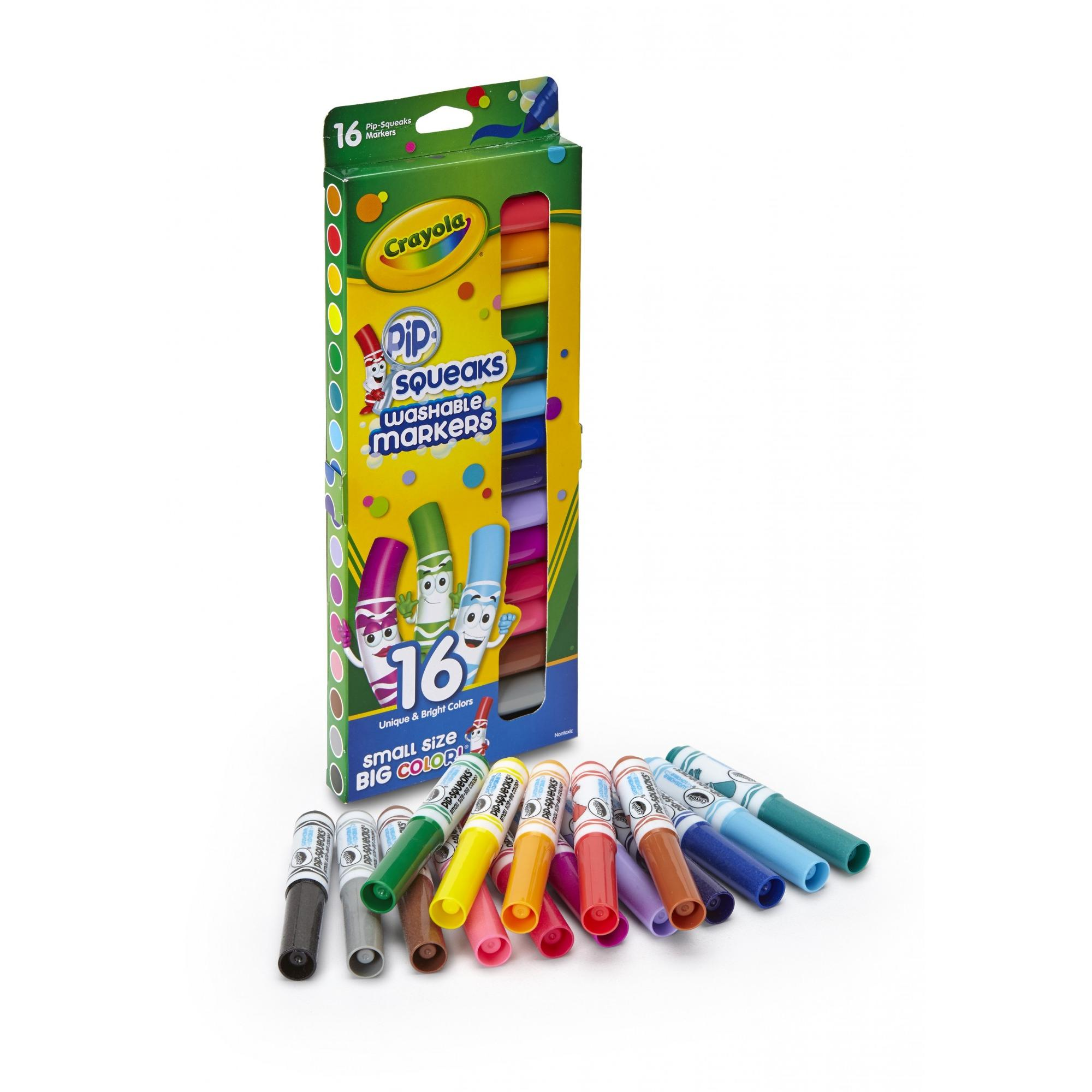 Crayola Pip-Squeaks Mini Washable Markers, 16 Count