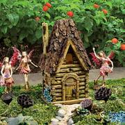 Design Toscano Woodland Fairy Garden House Statue
