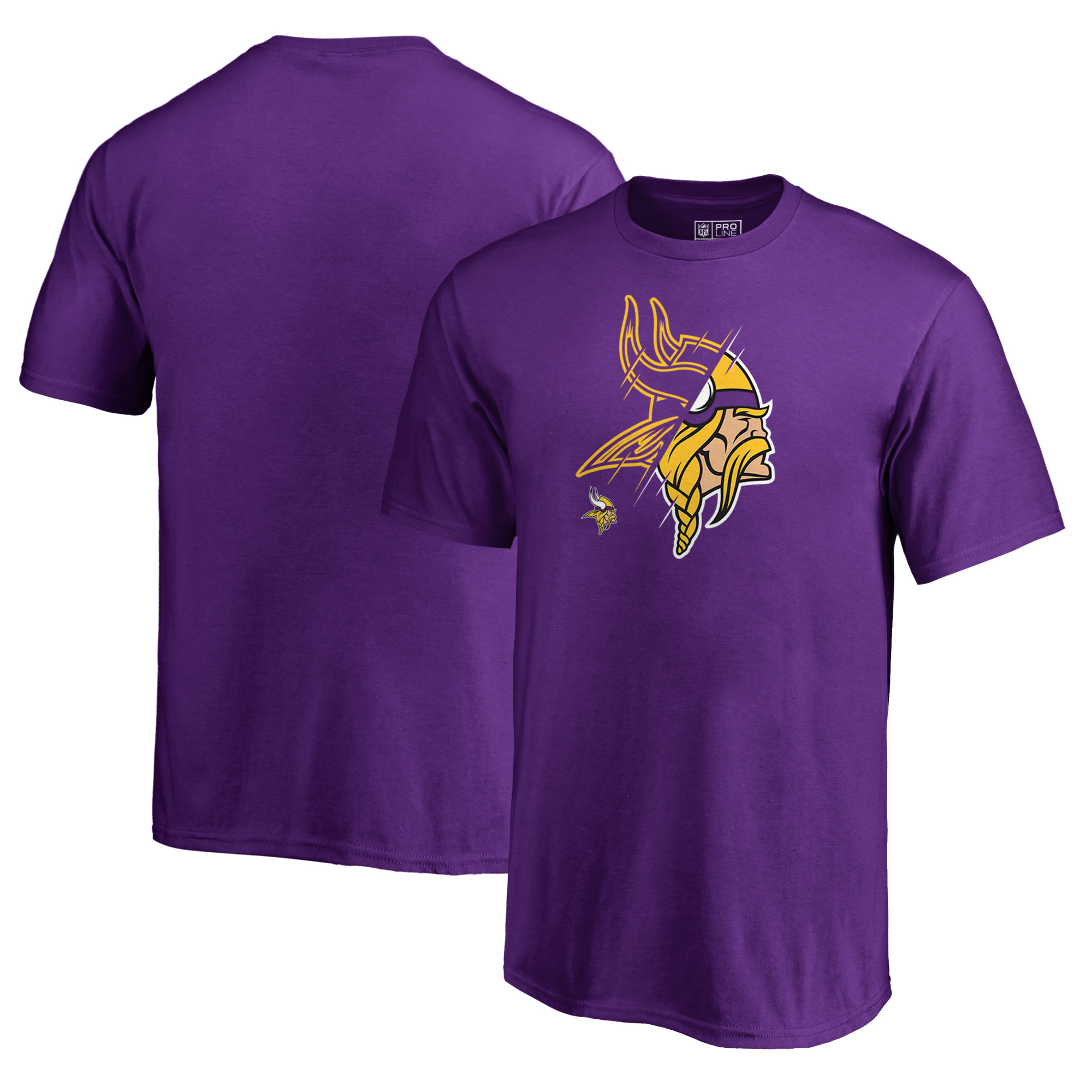 Minnesota Vikings NFL Pro Line by Fanatics Branded Youth X-Ray T-Shirt - Purple