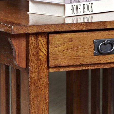 Leick Furniture Mission End Table With Storage Drawer And Shelf In