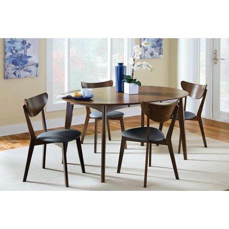 Malone Mid-Century Modern Dark Walnut Dining Chair, Set of Two