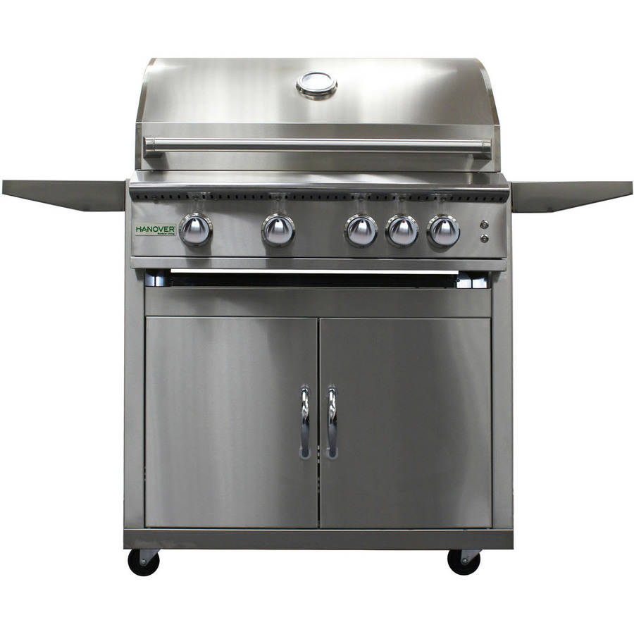 "Hanover Grills 32"" 4-Burner Natural Gas Grill with Cart"