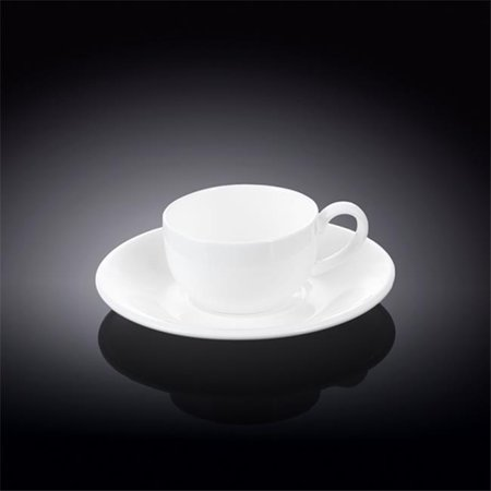 Wilmax 993002 100 ml Coffee Cup & Saucer, White - Pack of (100 Ml Cups)