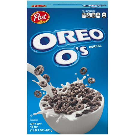 (2 pack) Post Oreo O's Cereal, 17 oz. Box (1982 Cereal)