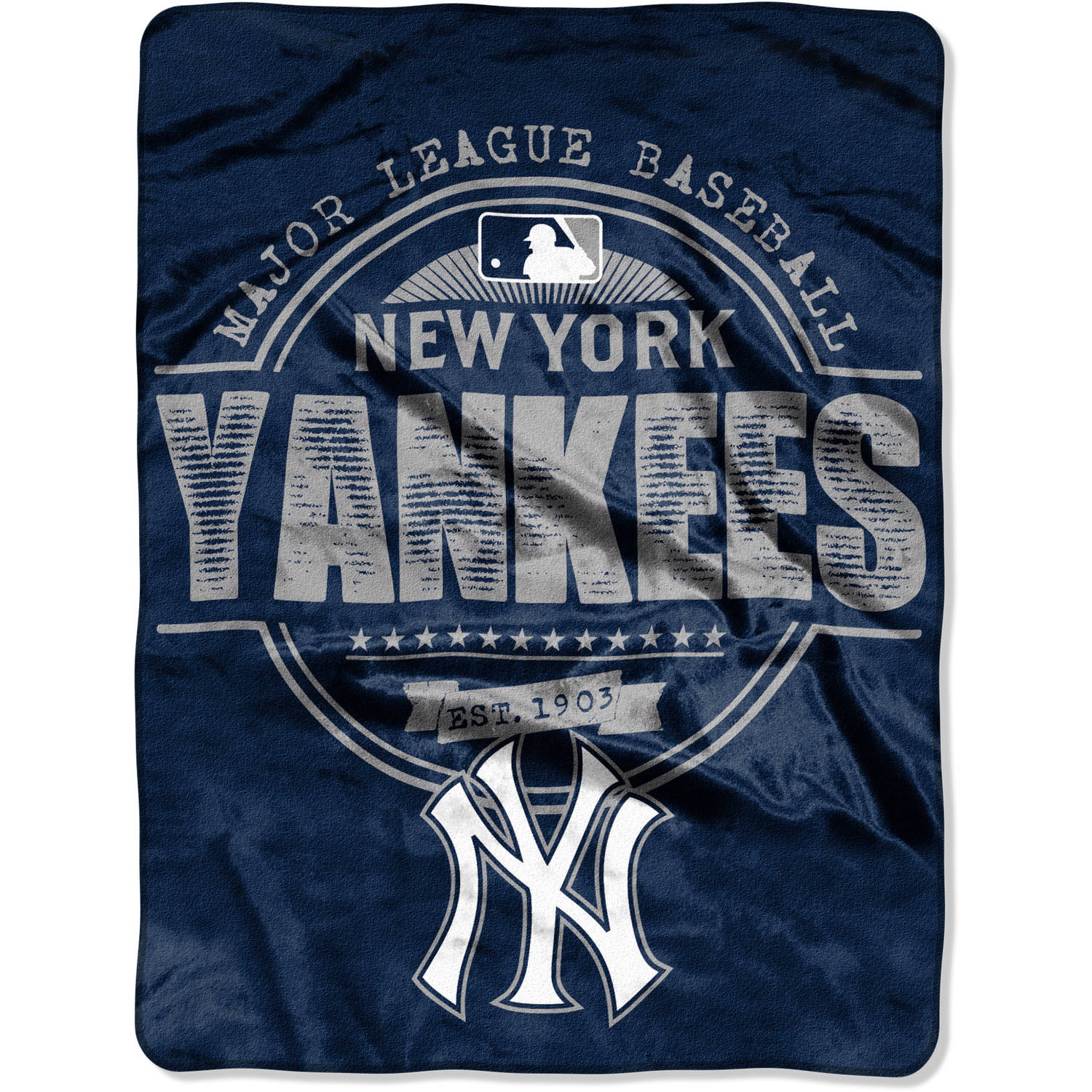 "MLB New York Yankees ""Structure"" 46"" x 60"" Micro Raschel Throw"