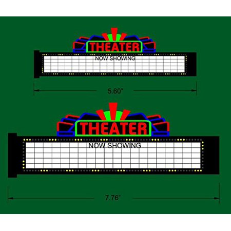 1182 Medium Model Theater Animated & Lighted Marquee sign by Miller Signs, Suitable for n scale and ho scale, 5. 60 long & 1. 8 tall, limited edition. By Miller Engineering