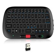 Rii i5 2.4GHz Wireless Full Touchpad Keyboard Mouse Combo Handheld Remote Control w/ Large Touch Panel for Smart TV Android PC Laptop