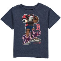 MLB Boston RED SOX TEE Short Sleeve Boys 50% Cotton 50% Poly Team Color 12M-4T