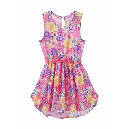 OFFCORSS Big Girls Cute Sleeveless Round Neck Dresses Vestidos Para Niñas